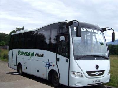 33-Seater Minibus for hire from Sweeneys of Muthill, Perthshire, Scotland, UK